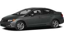 Colors, options and prices for the 2012 Honda Civic